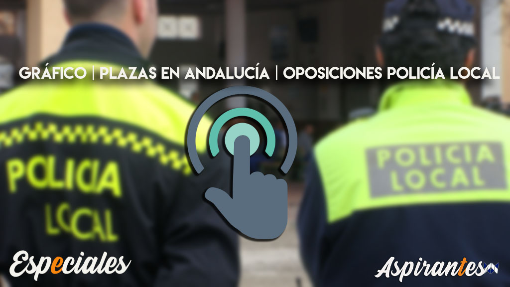 Oposiciones Policia Local en Andalucía. Gráfico con todas las plazas provincia por provincia.