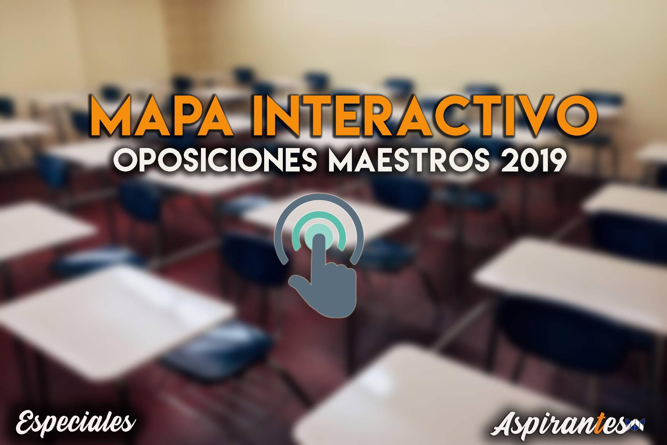 Mapa interactivo con todas las plazas para las oposiciones a maestros 2019
