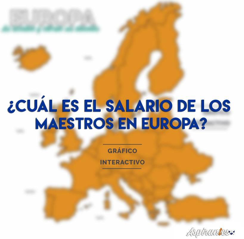 Este es el salario de los maestros y profesores en Europa, así como sus diferentes pruebas de acceso
